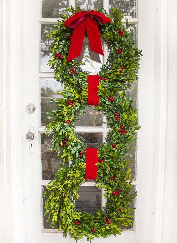 DIY Christmas Wreath Trio