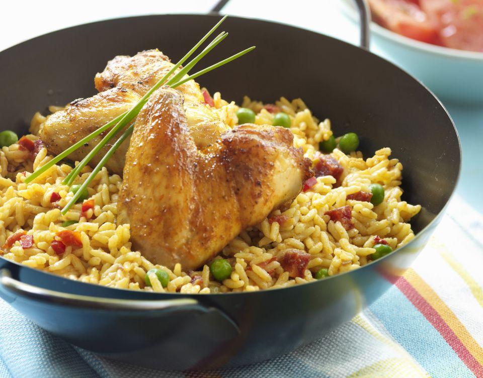 Chicken and Saffron Rice