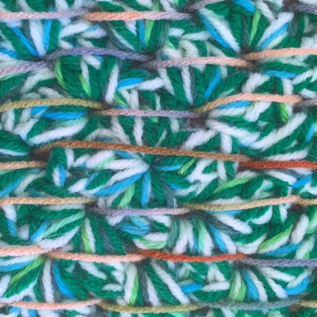 Weaving into Crochet
