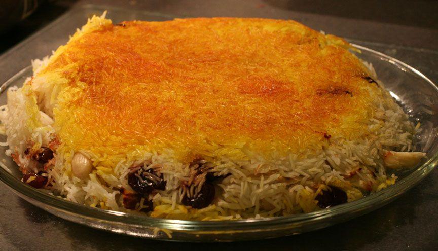 tahdig rice dish