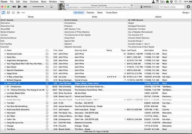 Using iTunes Match in iTunes.
