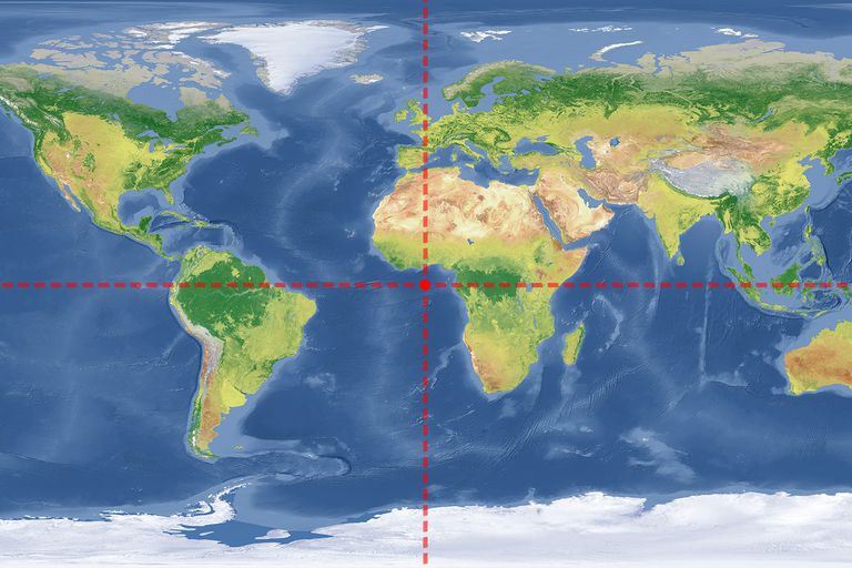 Where do 0 degrees latitude and longitude intersect where do the prime meridian and the equator intersect sciox Choice Image