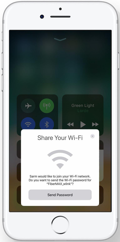 Perkongsian Wi-Fi iOS 11