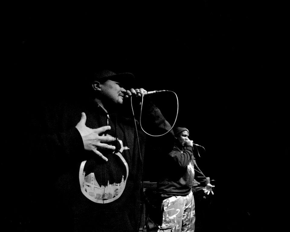 A performer at Sacramento's Blue Lamp.