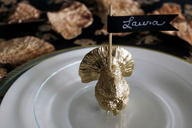turkey place card holder for thanksgiving