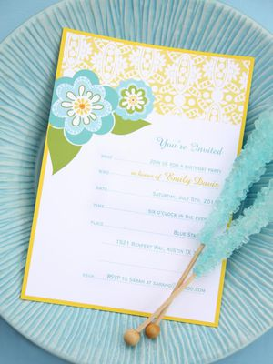 17 free printable birthday invitation templates a blue green and yellow floral birthday invitation stopboris Image collections