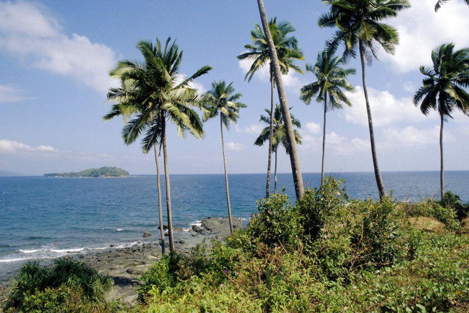 Coastal scene, the Andaman Islands, Bay of Bengal, India