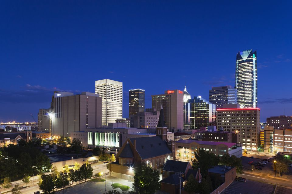 Night View of Oklahoma City