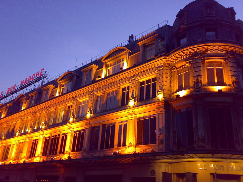 The Bon Marche department store is one of Paris' most famed stores.