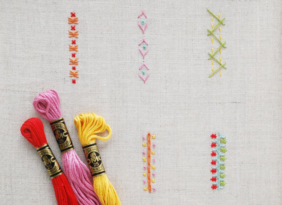 Combining Embroidery Stitches To Create Borders And More