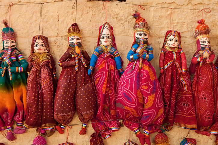 Rajasthani puppets.