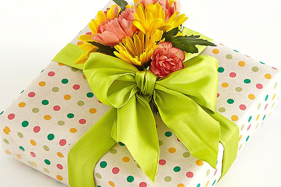 Gift With a Flower Bow