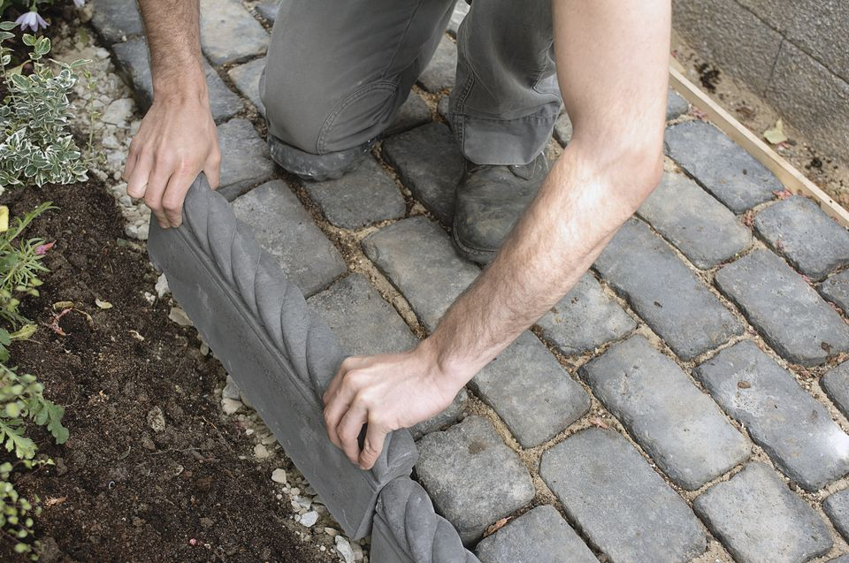 laying brick path