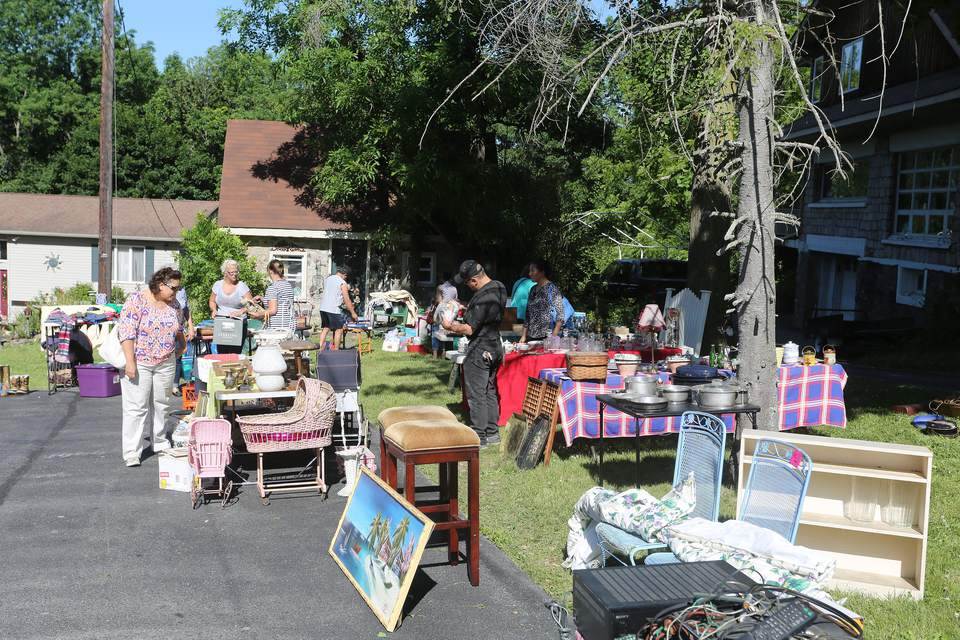 Yard Sale Shopping in Monroe, New York
