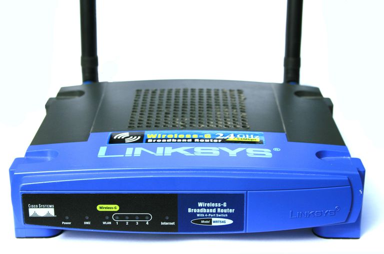 Photo of a Linksys WRT54G Router