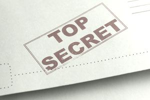 Top Secret stamp on file