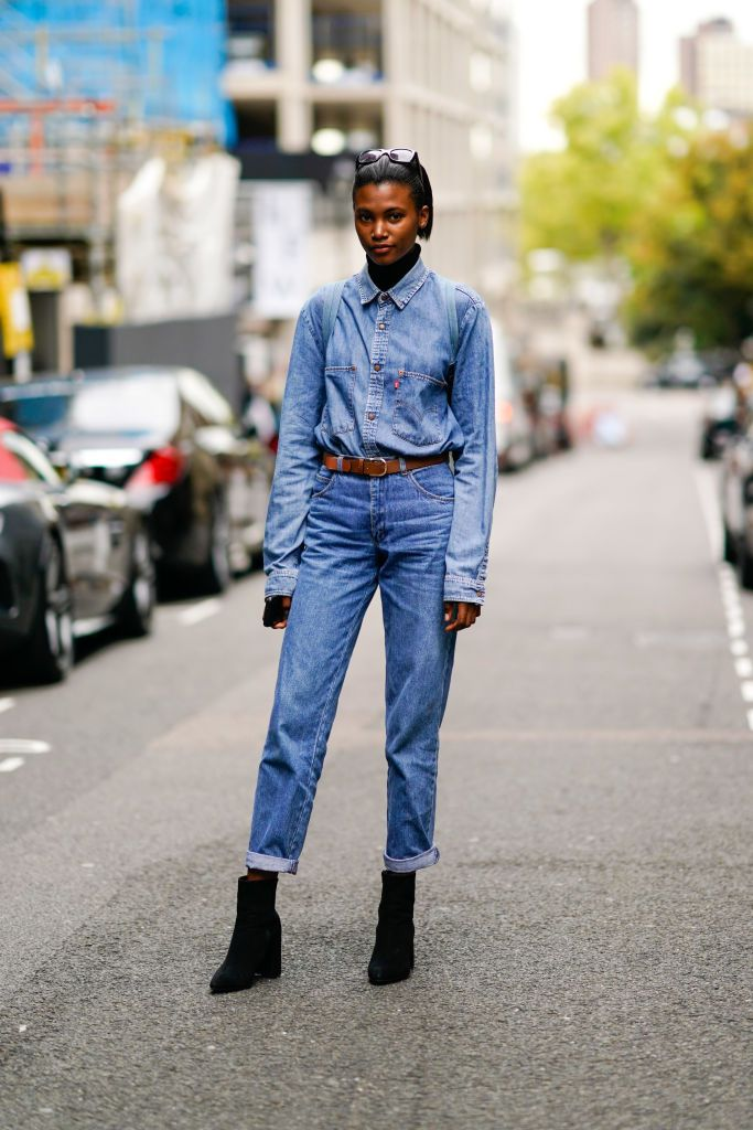 Denim on denim street style outfit