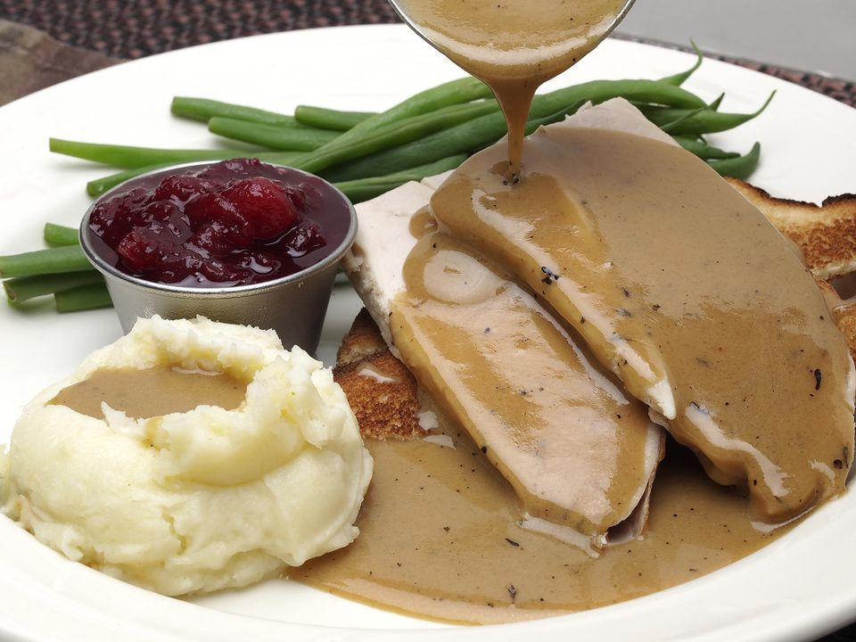 Turkey Dinner With Gravy