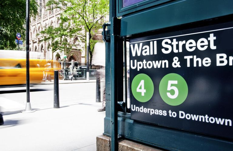 Wall Street station sign