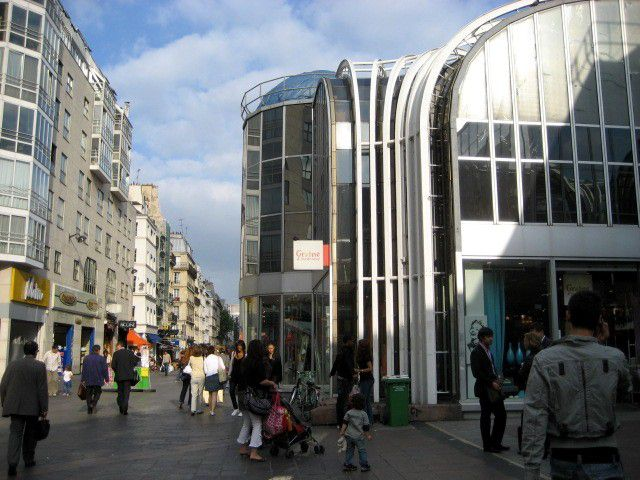 The commerical area known as Les Halles is one of the busiest areas on the Rive Droite in Paris.