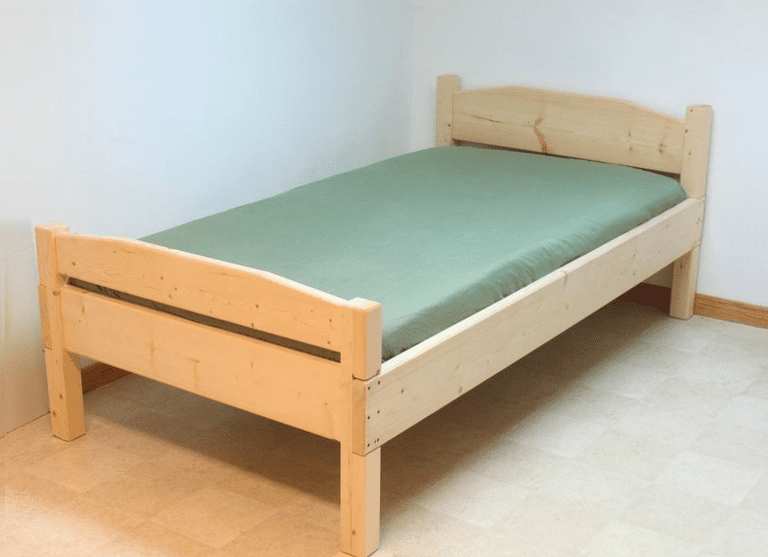 free simple bed plan at woodgearsca - Wood Frame Bed