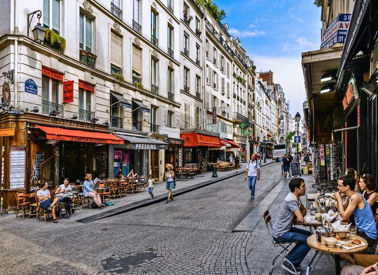 Montorgueil District in Paris, France
