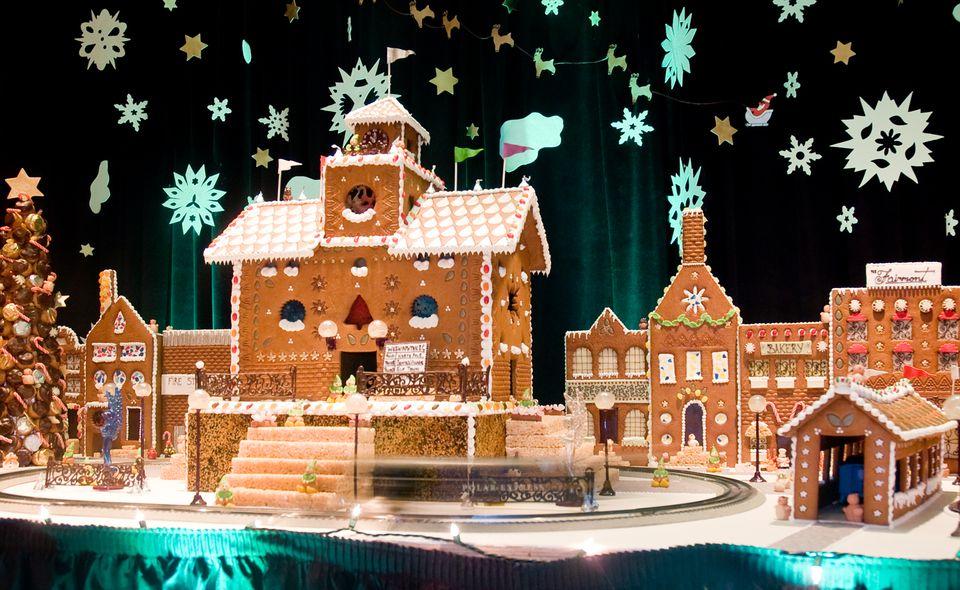 Gingerbread Train Station at the Fairmont Washington, D.C.