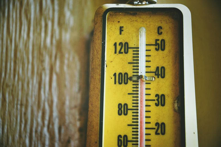 Close-Up Of Thermometer By Wood