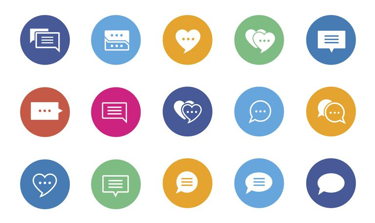 Vector speech bubble icons