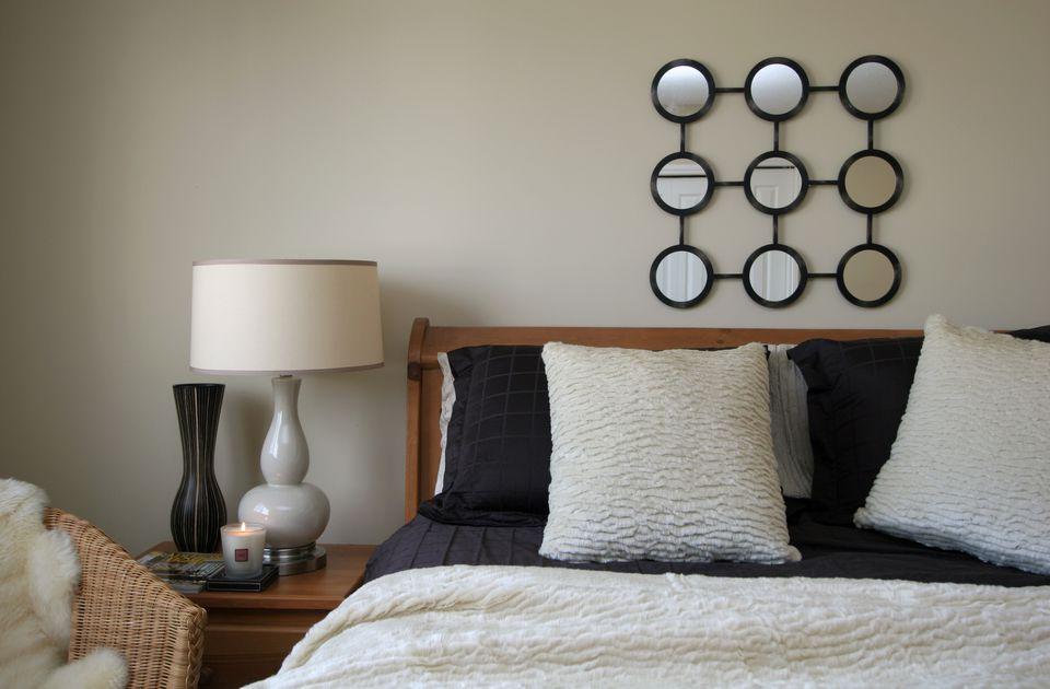 hang mirrors - Making A Small Bedroom Look Bigger