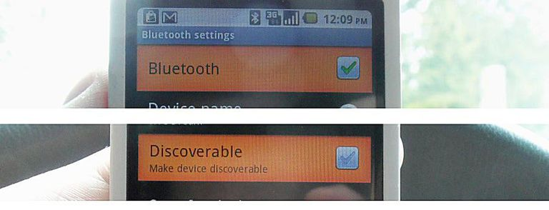 bluetooth cell phone settings