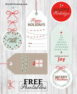 41 sets of free printable christmas gift tags christmas gift tags from the stork is coming negle Images
