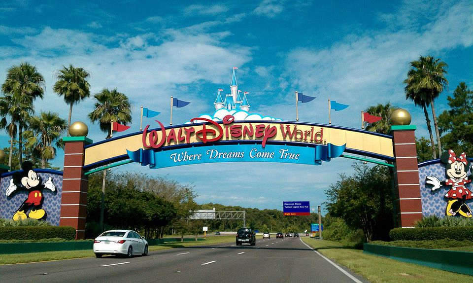 Main entrance to Walt Disney World Resort