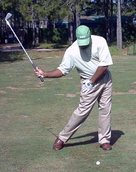 Hitman Drill For Right Hip Turn In The Golf Swing