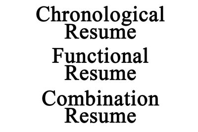 top resume examples listed by style - Chronological Sample Resume
