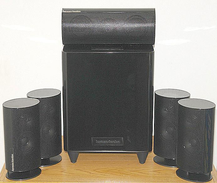 Harman Kardon HKTS 20 5.1 Channel Speaker System - Front View