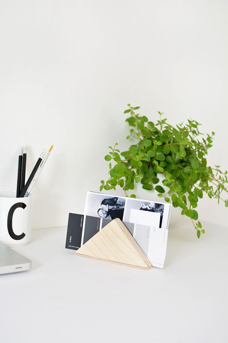 DIY Minimal Paper Storage
