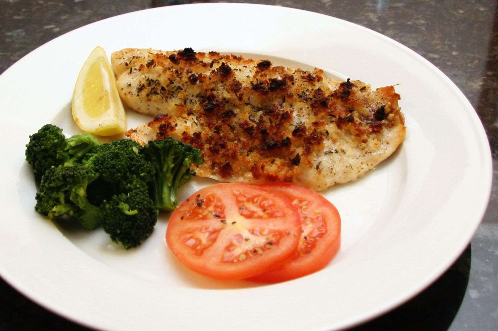 Baked fish fillets with seasoned crumb topping recipe for Baked fish seasoning