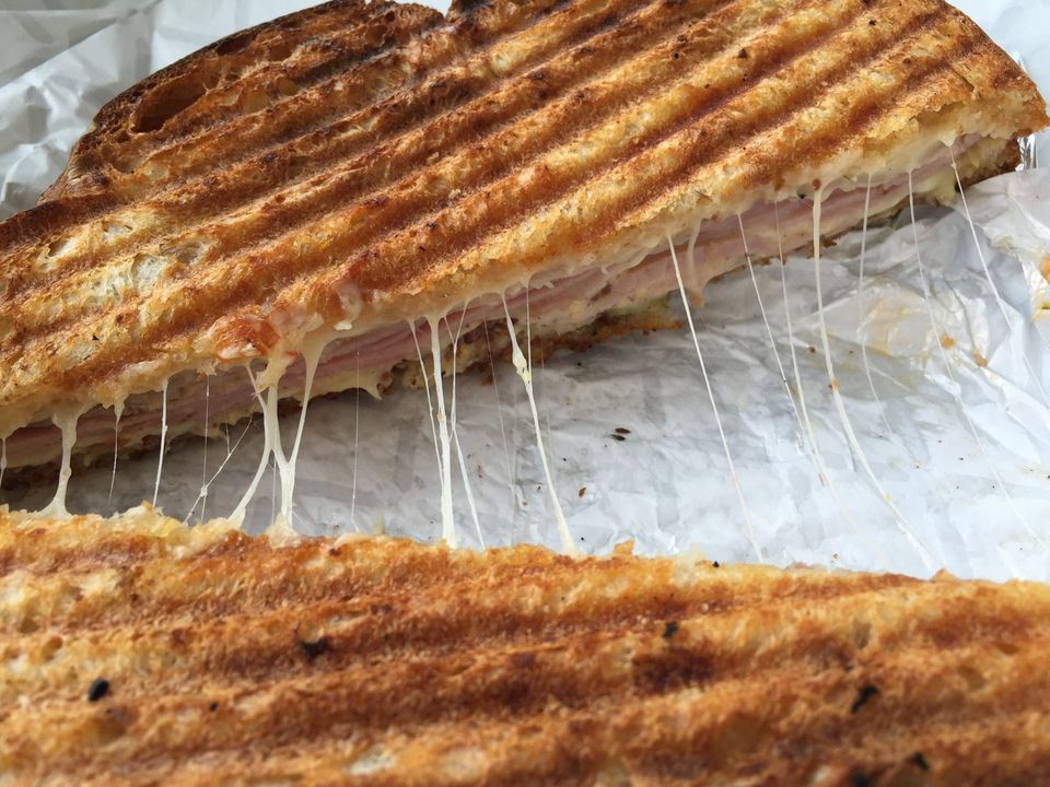 Close-Up Of Cuban Sandwich On Table