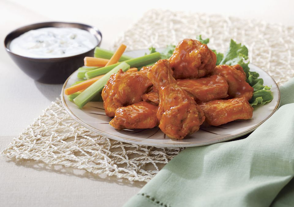 Hot and Spicy Drumettes with Blue Cheese