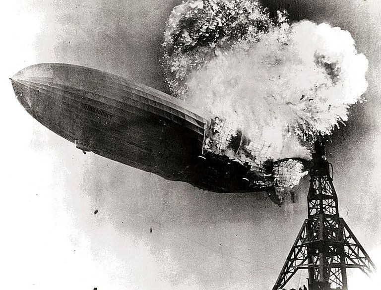 Hindenburg Airship Exploding
