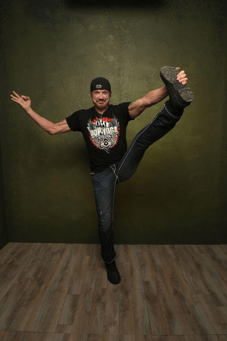 Diamond Dallas Page doing yoga