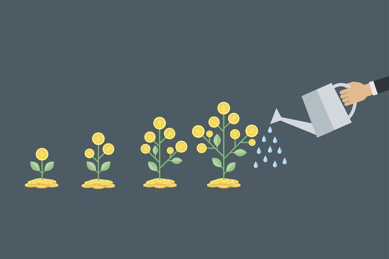 watering growing money