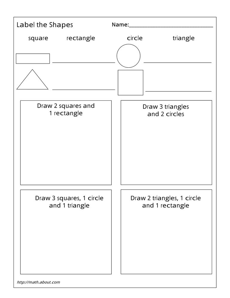 Shapes 1 worksheet