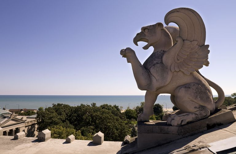 Griffin On the Roof of The Museum Of Science And Industry