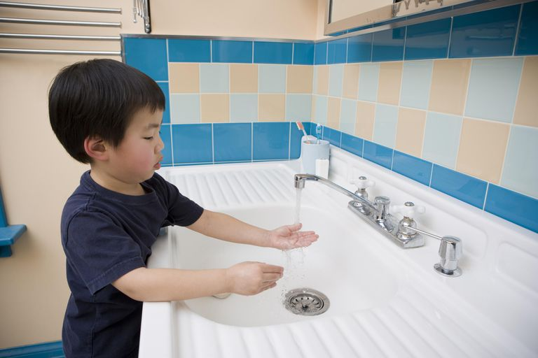 Teaching Hand washing to Preschoolers
