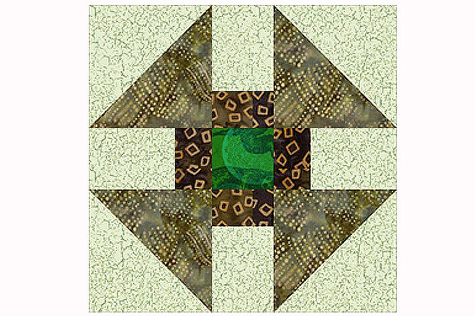 Greek Cross Quilt Block And Quilt Pattern