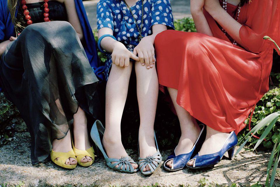 Three Girls in Fancy Dress