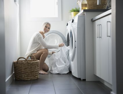 Teens Doing Laundry