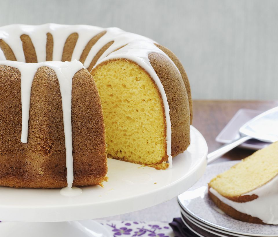 Almond Bundt Cake With Fruit In The Middle